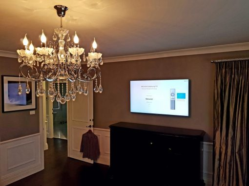 Samsung 55″ QLED TV Wall Mounted on Gyprock