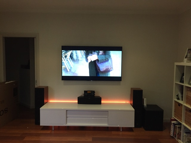 Sony 65 4k Led Wall Mounted With Home Theatre Easy Tv