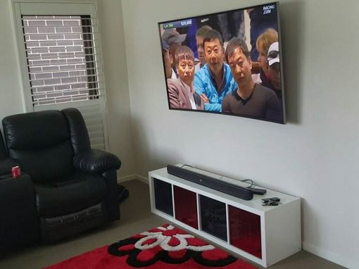 Curved TV Wall Mount Installation
