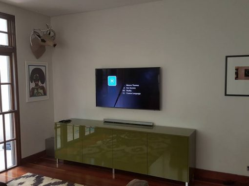 Samsung TV Wall Mount on concrete