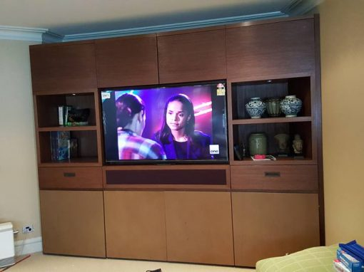 TV Console Wall Mounting